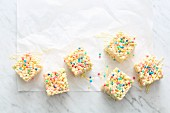 Crispy treats with confetti rice