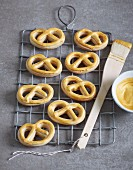 Golden Christmas pretzels