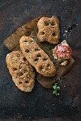 Rye flatbreads with chia seeds