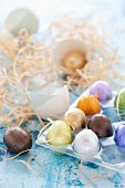 Foil-wrapped Chocolate Easter eggs