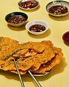 Kimchi jeon - Korean kimchi pancakes