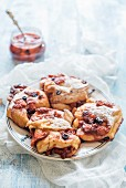 Homemade pastries with berry jam