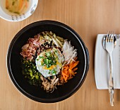 Bibimbap (a traditional Korean dish)