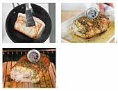Fleisch garen mit der Niedrigtemperatur-Methode
