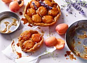 Apricot and lavender tart