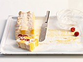 Cardinal slices (sponge cake with meringue and cream, Austria)