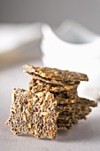 Crackers with chia seeds, sunflower seeds and linseed