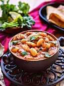 Lima bean and tomato curry with coriander