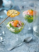 Prawn cocktails with parmesan lollipops