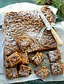 Gingerbread with pistachios (Christmas)