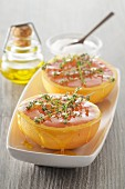 Grilled pomelos with honey and thyme
