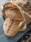 Selbst gebackenes Quinoa-Saaten-Brot