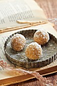 Coconut and lemon truffles