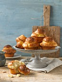 Brioche on a cake stand