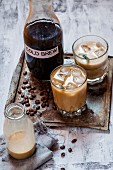Cold Brew (cold coffee with milk and ice cubes)