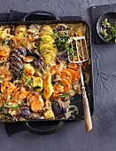 Potato gratin with porcini mushrooms