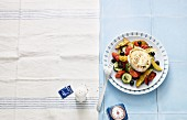 Oven-baked vegetables with goat's cheese