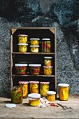 Alpine pickles: Pickled vegetables in preservation jars