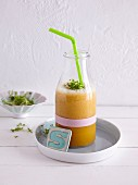 A pointed cabbage and carrot smoothie with cress - 'Early Spring Slaw'