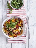 A roasted vegetable salad (peppers, fennel, carrot and tomatoes) - 'Hot Summer'