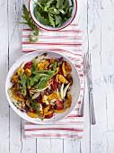 Salat aus Ofengemüse (Paprika, Fenchel, Möhre und Tomaten) - 'Hot Summer'