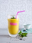 A mango and vegetable smoothie - 'One Night in Bangkok'