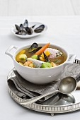 Bouillabaisse (fish soup from France)