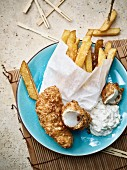 Fish and Chips mit Apfelremoulade