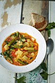 Bean minestrone with fennel and millet