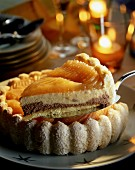 Pear Charlotte with chocolate (Christmas)