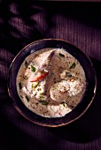 Monkfish in a lime and coconut sauce