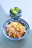 Crayfish with cucumber (Asia)