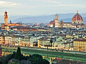 The view from the Piazzale Michelangelo overlooking Florence, Tuscany, Italy
