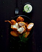 Pollack goujons with dill remoulade