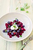 Beetroot and blueberry salad