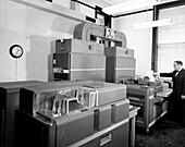 IBM 650 computer at US Naval Observatory, 1961