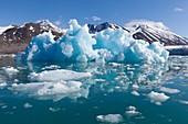 Blue iceberg, Svalbard