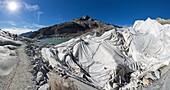 Protective cover on glacier