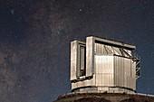 New Technology Telescope and night sky at La Silla