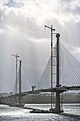 Construction of Queensferry Crossing bridge