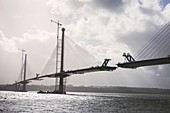 Construction of Queensferry Crossing bridge