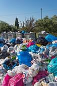 Rubbish overflow, Greece