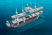 Liberty ship construction, illustration