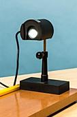LED lamp on optical bench.