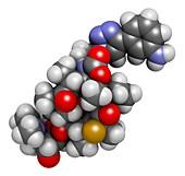 Solithromycin antibiotic drug molecule