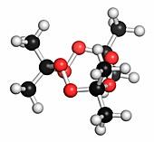 Triacetone triperoxide explosive molecule