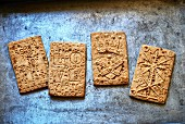 Different spiced German 'Spekulatius' cookies
