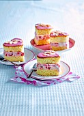 Starwberry Sponge Ice-Cream Sandwiches