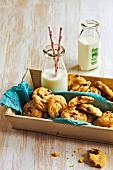 Macadamia, white choc and craisin biscuits