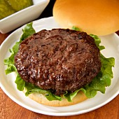 Hamburger with lettuce